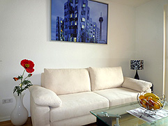 Trade fair apartments couch